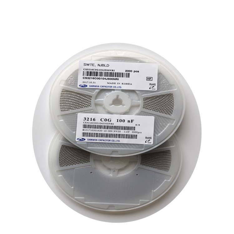 三和 陶瓷贴片电容 CS3216C0G104J500NRI